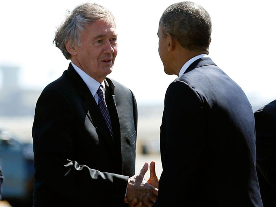 President Obama is to appear in Boston Wednesday to campaign for Representative Edward J. Markey.  He will attend a rally at the Reggie Lewis Track and Athletic Center.