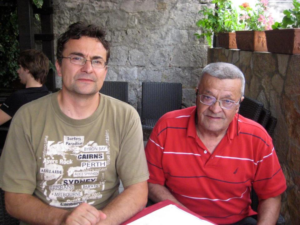 Zeljko Basic (left) and his father, Davor, have sustained the family restaurant through many vicissitudes including war.