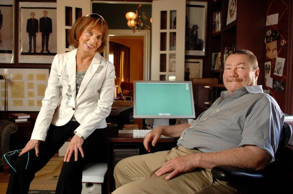 Joan Parker (left) was a muse for her husband, mystery writer Robert B. Parker, who had died in 2010.