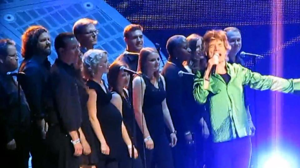 "Boston University's Marsh Chapel Choir performed with the Rolling Stones for their classic ""You Can't Always Get What You Want."""