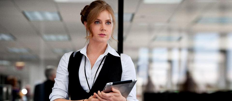 "Amy Adams as Lois Lane in the new Superman movie, ""Man of Steel."""