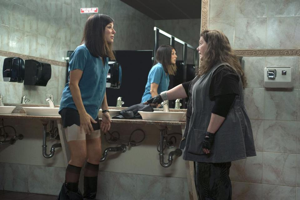 "Sandra Bullock (left) and Melissa McCarthy in ""The Heat."""