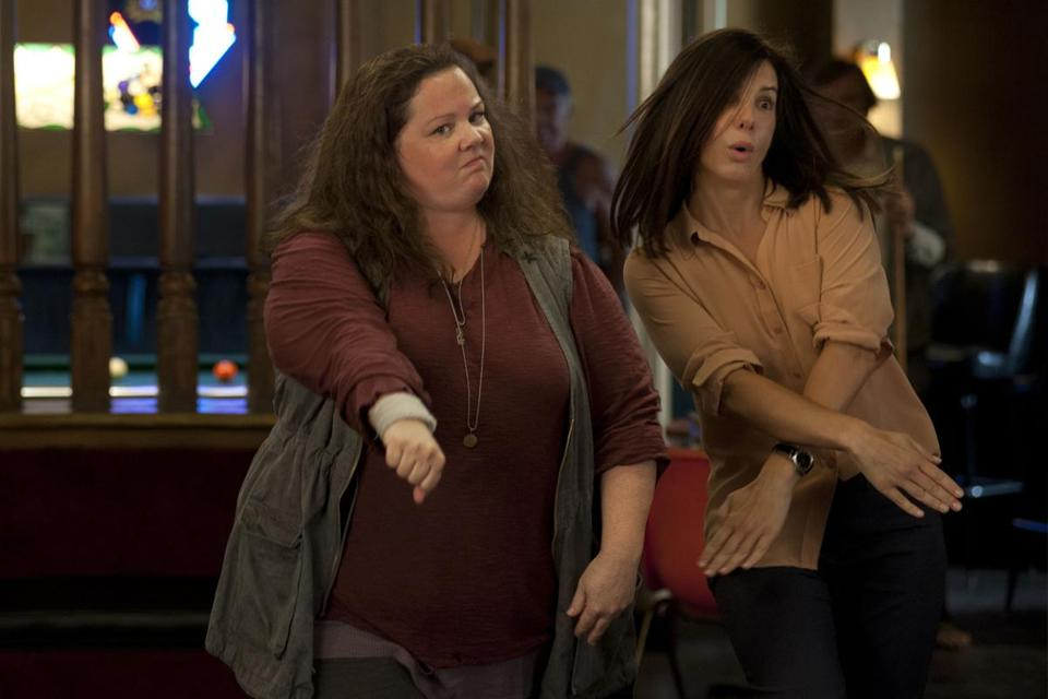 "Stars Melissa McCarthy and Sandra Bullock have genuine chemistry fighting crime in ""The Heat,"" which is set in Boston."