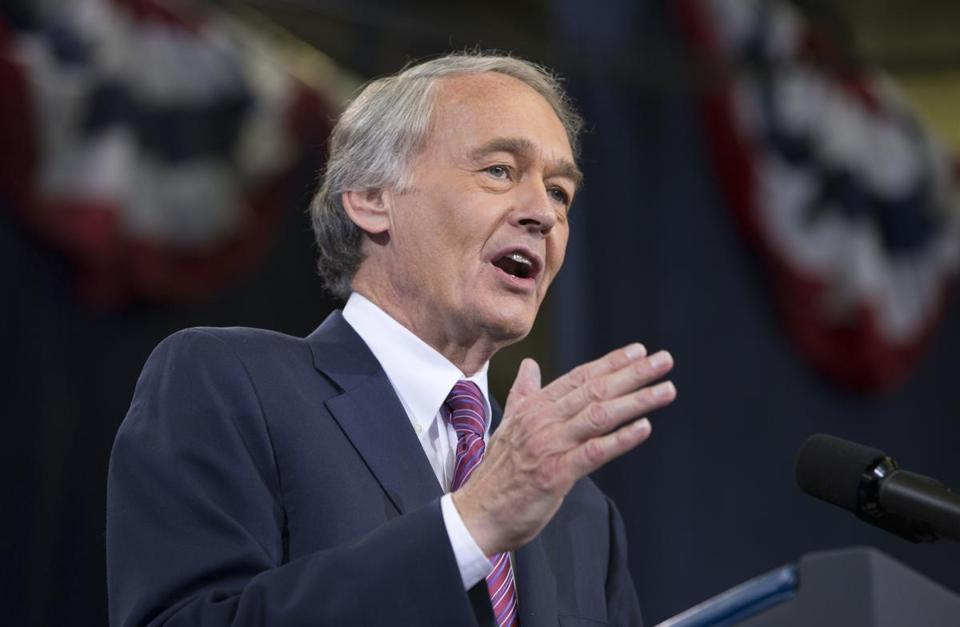 Democratic Senate candidate Edward J. Markey spoke at a campaign rally attended by President Obama on Wednesday.