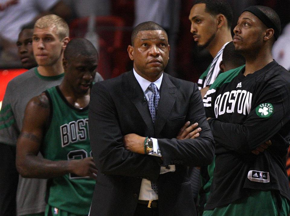 Doc Rivers's annual salary of $7 million is tops for NBA coaches.
