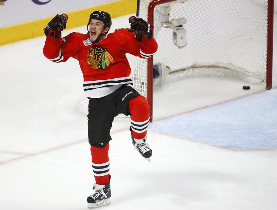 Andrew Shaw's exuberance didn't endear him to the Bruins in Game 1. He not only scored the winning goal, he registered nine hits.