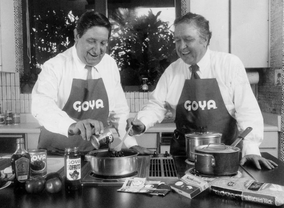 Joseph A. Unanue (left) and his brother Francisco were photographed at their test kitchen in their Puerto Rican plant.