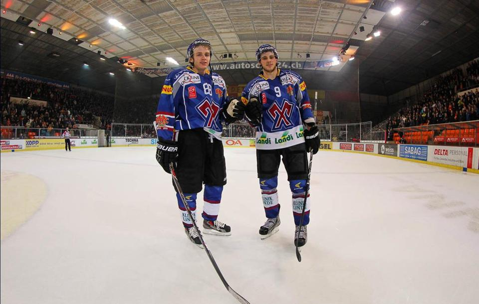Patrick Kane (left) and Tyler Seguin spent the NHL lockout playing in  Switzerland — e70d87d90