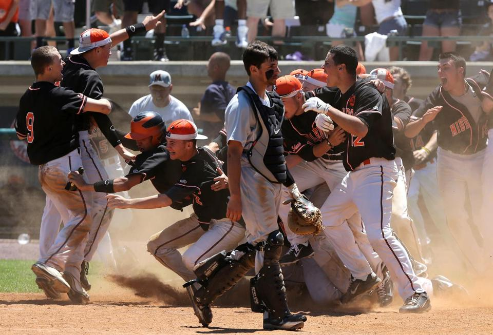 Middleborough celebrated a walkoff win in Division 3.