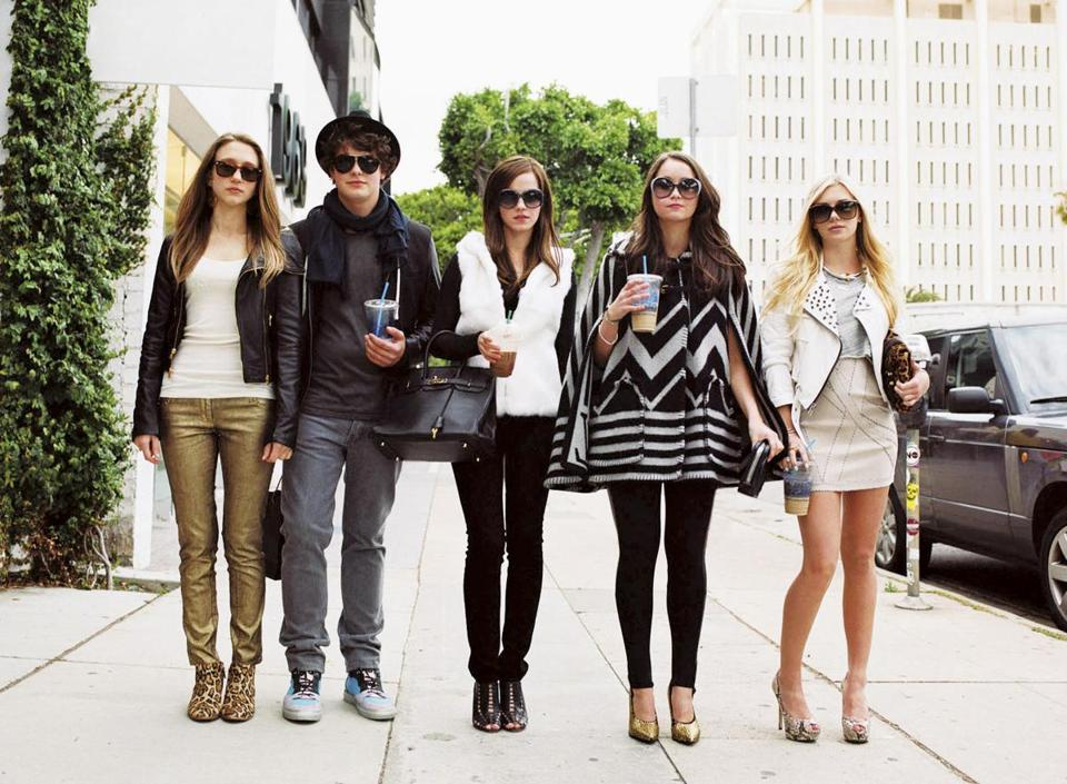 "Based on actual events, ""The Bling Ring"" stars (from left) Taissa Farmiga, Israel Broussard, Emma Watson, Katie Chang, and Claire Julien as a group of California high schoolers who rob the homes of celebrities."