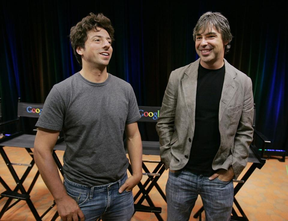 Google's cofounders, Sergey Brin (left) and Larry Page.