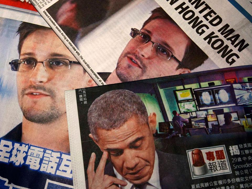 Contractor Edward Snowden revealed secret government surveillance programs before fleeing to Hong Kong.
