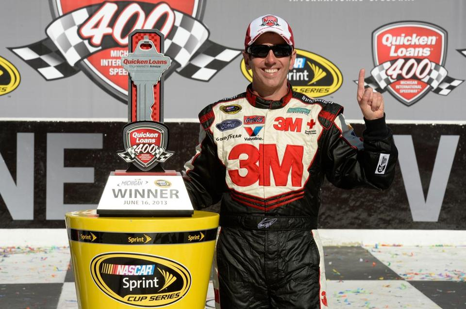 A competitor's late mishap was the big key to Greg Biffle's milestone victory for Ford Motor Company on Sunday.