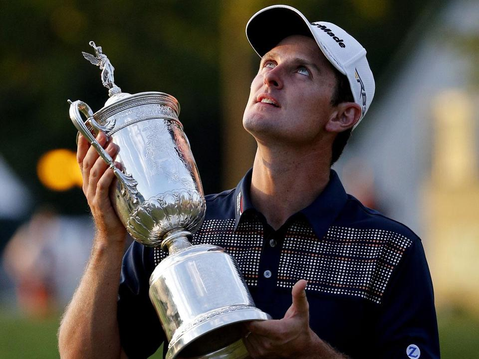 After winning the US Open on Father's Day, Justin Rose was quick to honor his dad Ken, who died in 2002.
