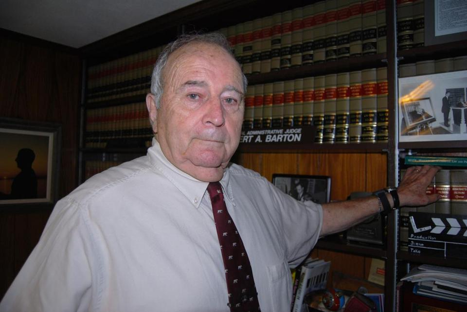 Retired superior court judge Robert A. Barton
