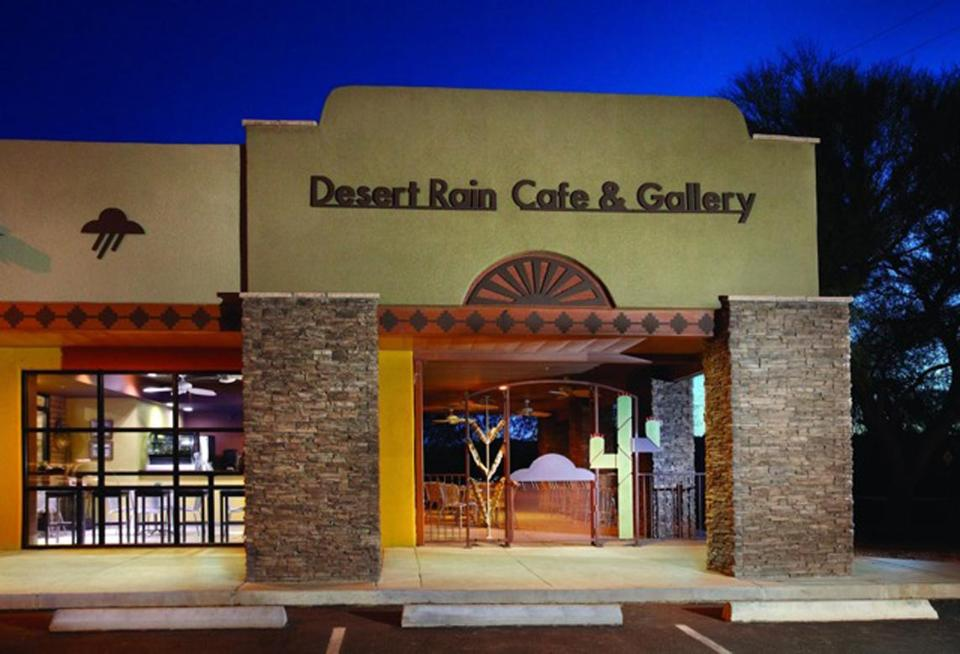 Desert Rain Cafe focuses its menu on health and items often prepared in traditional Tohono O'odham ways with traditional products, some of which can be purchased in the Desert Rain Gallery shop.