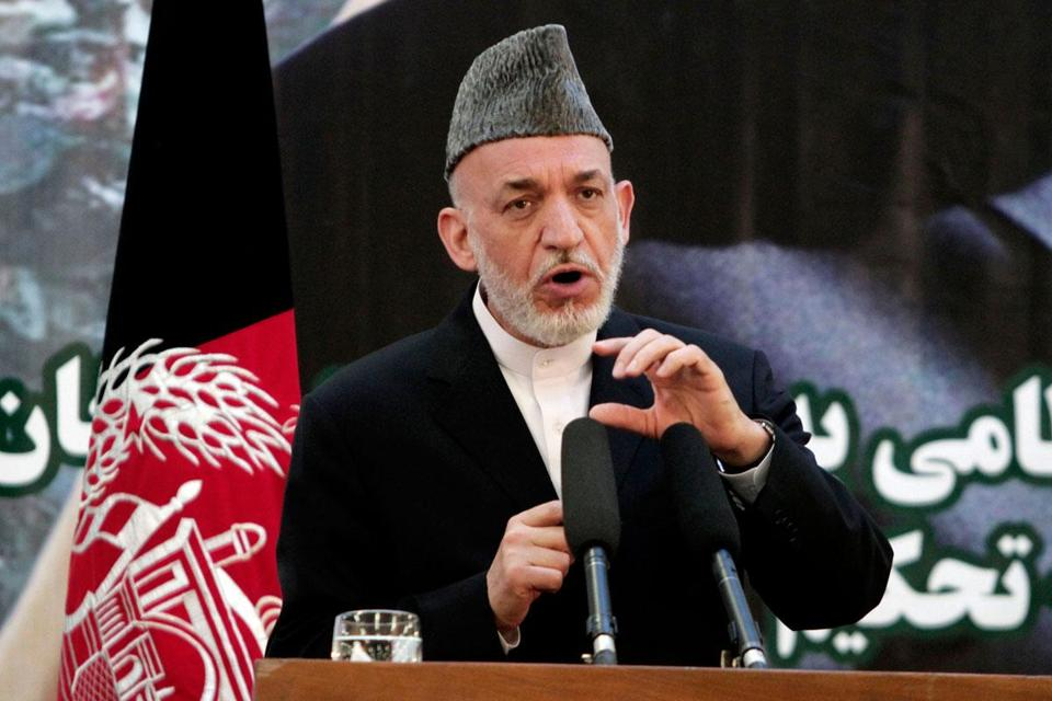 Hamid Karzai is upset over a US and Taliban announcement the day before that they would begin preliminary peace talks in Qatar without the Afghan government.