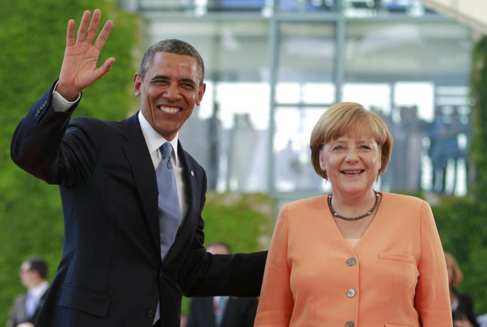 President Obama and Chancellor Angela Merkel held a press conference before his speech at Brandenburg Gate.
