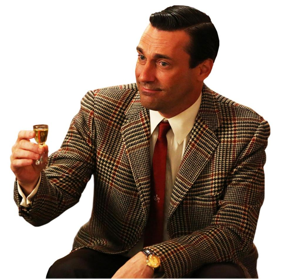 "Frequent alcohol use in ""Mad Men"" has evolved to include marijuana."