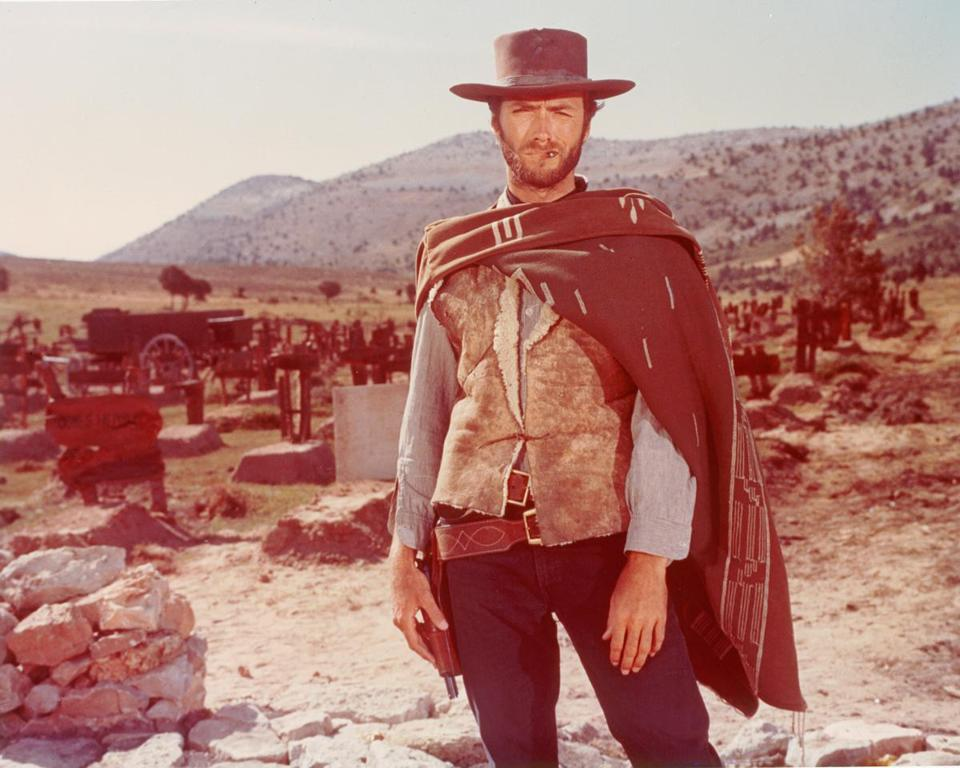 "Clint Eastwood in Sergio Leone's ""The Good, the Bad and the Ugly."""