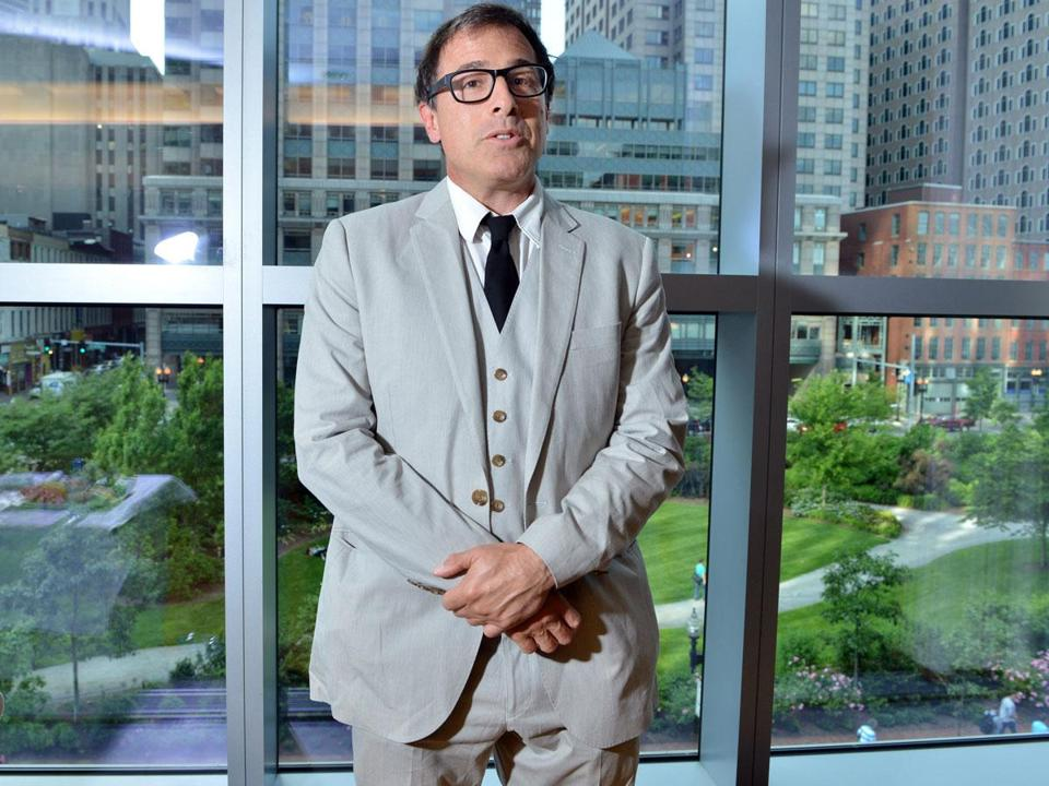 David O. Russell was at the InterContinental Hotel Friday to receive an award from McLean Hospital.