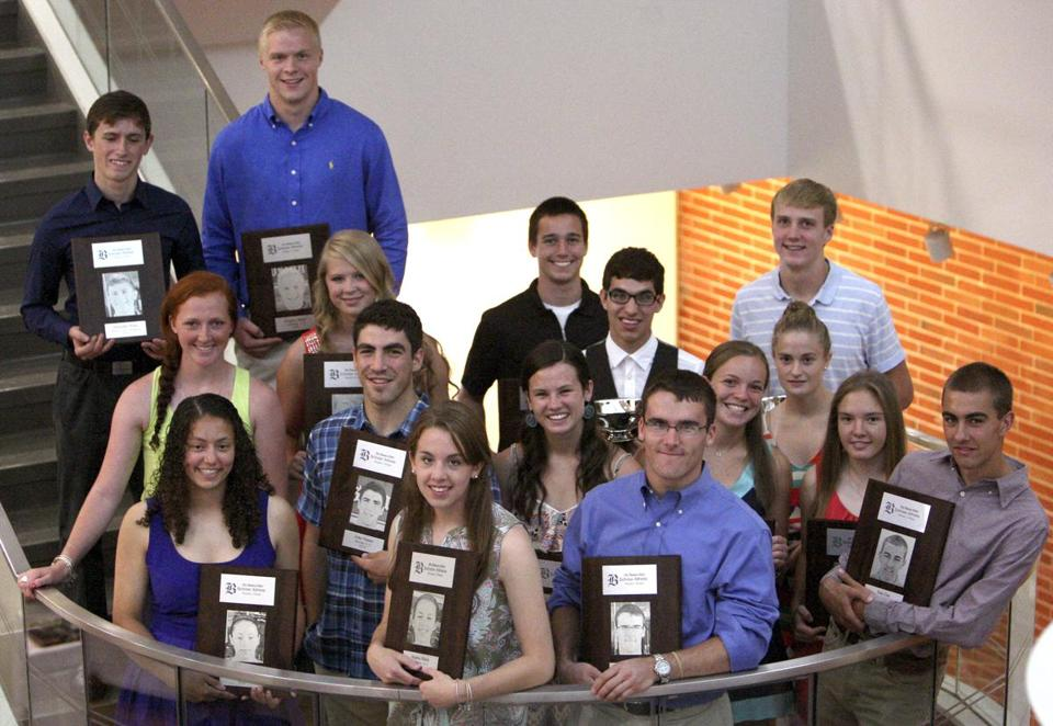 Over a dozen of the finest student-athletes in the state were feted at the Globe's offices in Dorchester on Sunday.