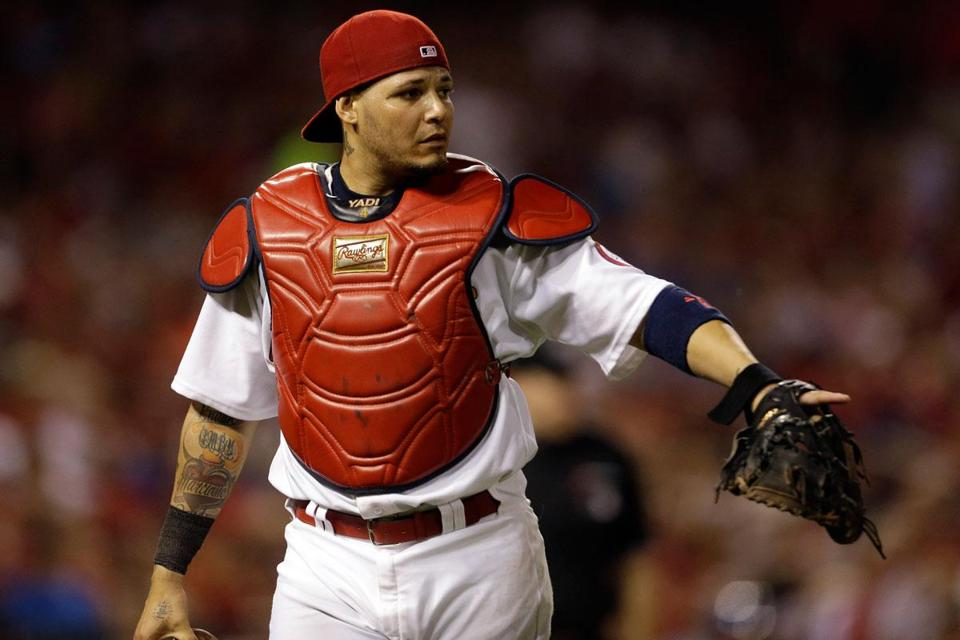 Yadier Molina, 30, was hitting a league-best .364 with five homers, 41 RBIs, and a .926 OPS entering Saturday.