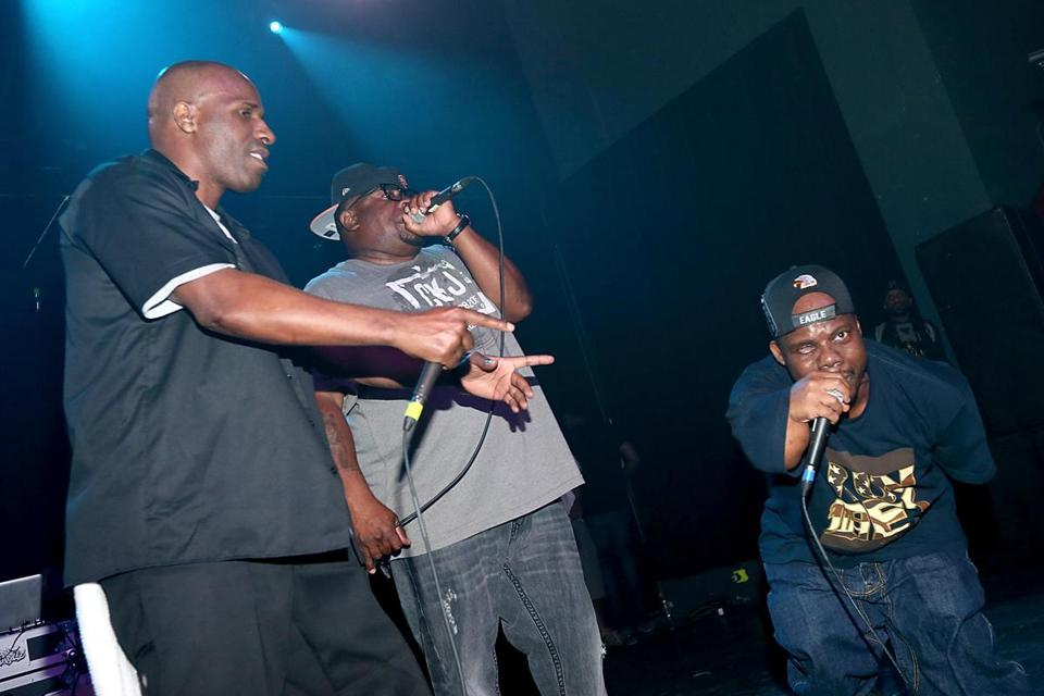 From left: Willie D, Scarface, and Bushwick Bill of the Geto Boys were a controversial act when they started out.