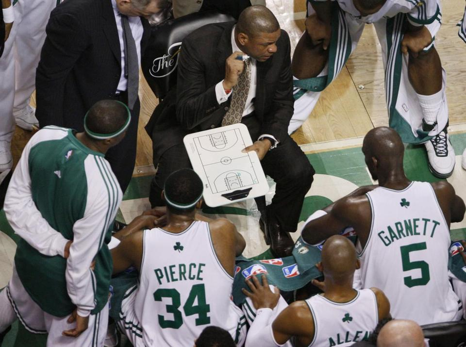 Doc Rivers succeeded in getting Paul Pierce, Ray Allen, and Kevin Garnett to work together.