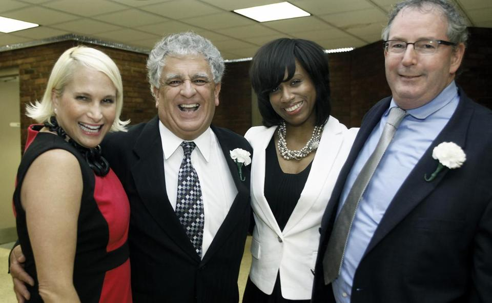 From left: Jodi Wolin of North End, Work Inc. President and CEO Jim Cassetta of Swampscott, Boston City Councilor Ayanna Pressley of Dorchester, and Jim Cawley of Dorchester.