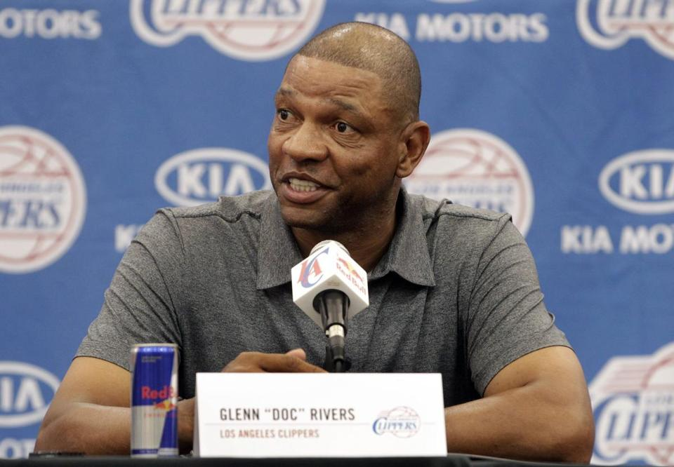 Doc Rivers was introduced as the head coach and vice president of basketball operations for the Los Angeles Clippers Wednesday. (Fred Prouser/Reuters)