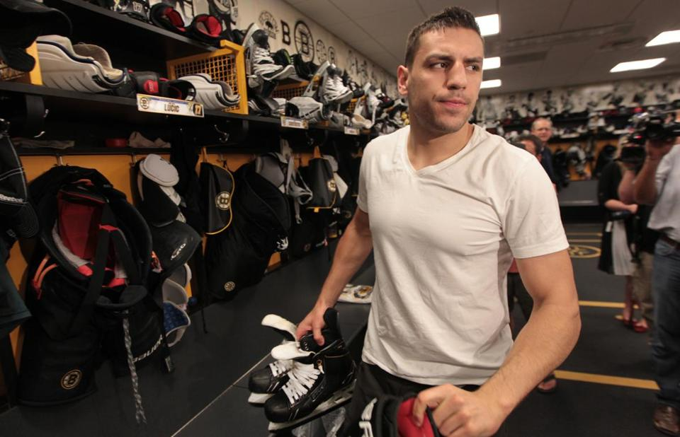Milan Lucic scored seven goals during the playoffs, the same number he managed in the regular season.