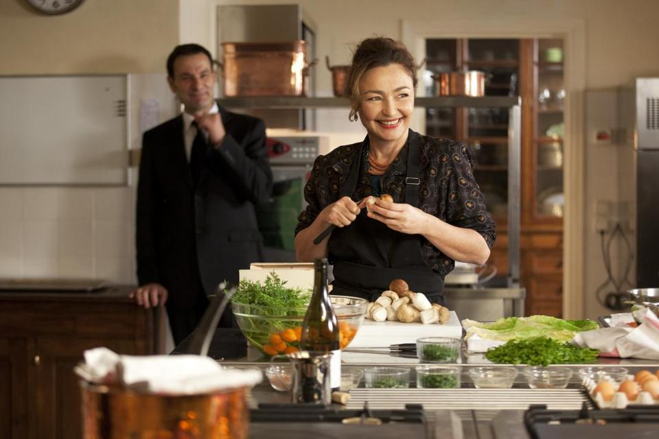 "Jean-Marc Roulot and Catherine Frot in ""Haute Cuisine,"" based on the  story of a chef for François Mitterrand."