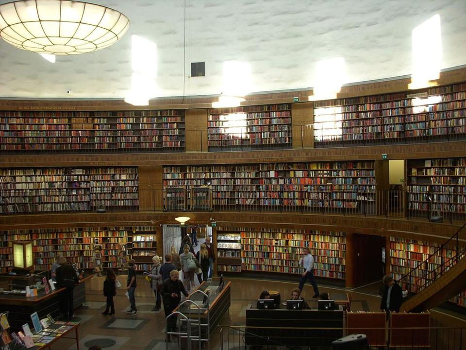 The Stockholm Public Library's rotunda.