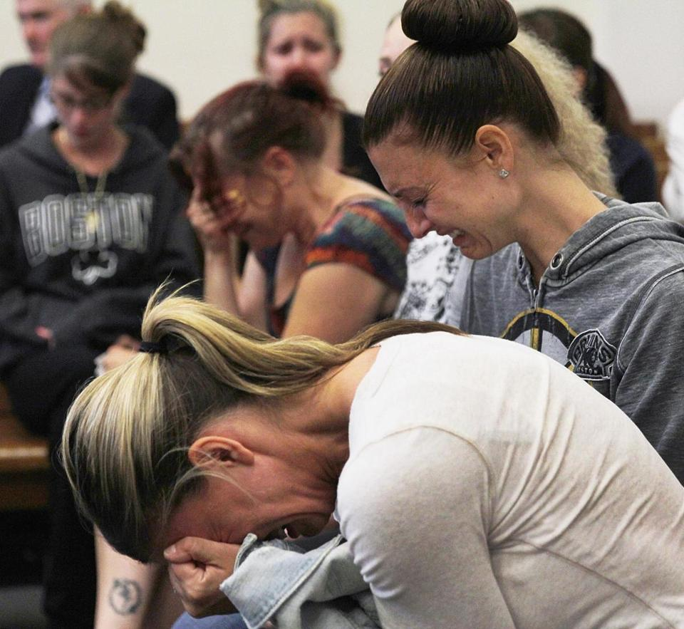 Family and friends of Melissa Hardy grieved Thursday during the arraignment of her accused killer.