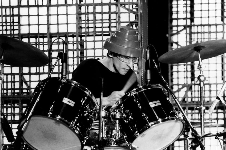 Alan Myers performed with Devo in Los Angeles in 1979.