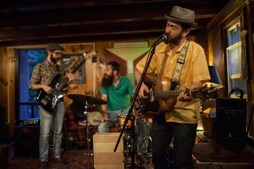 Dan Blakeslee and the Calabash Club played the Dream Away Lodge in Becket last month.