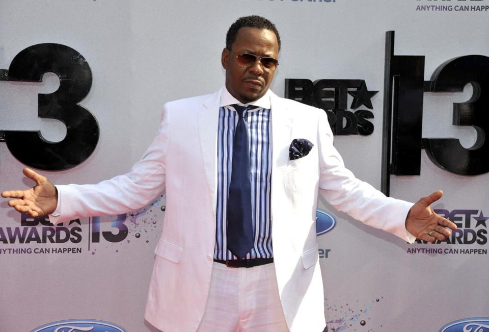 Bobby Brown (above) arriving at the BET Awards in LA.