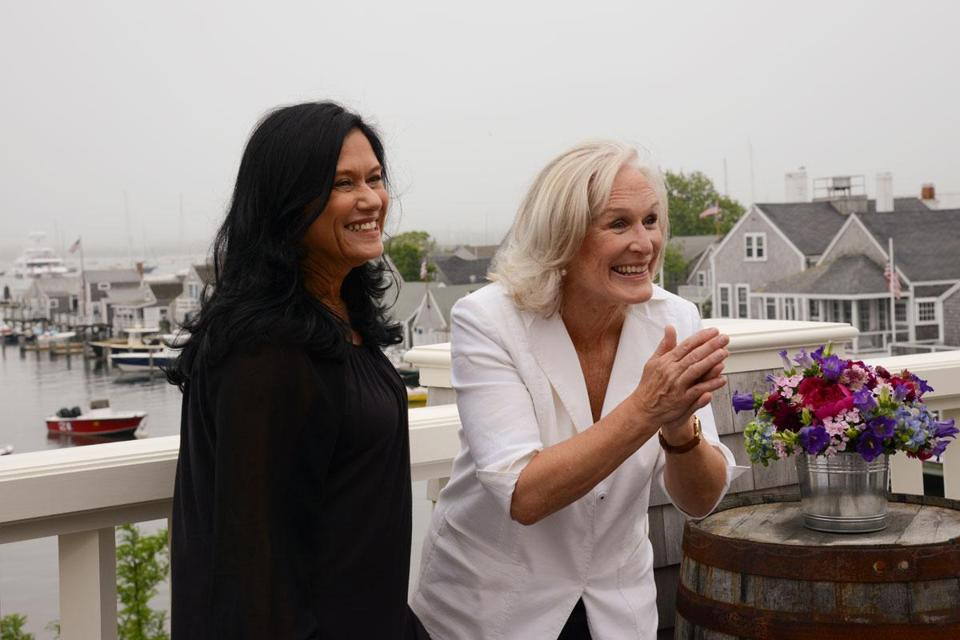 Barbara Kopple (left) and Glenn Close.