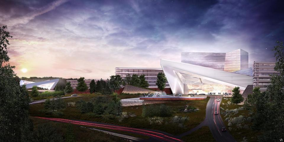 Rendering of the  proposed Mohegan Sun Casino in Palmer.