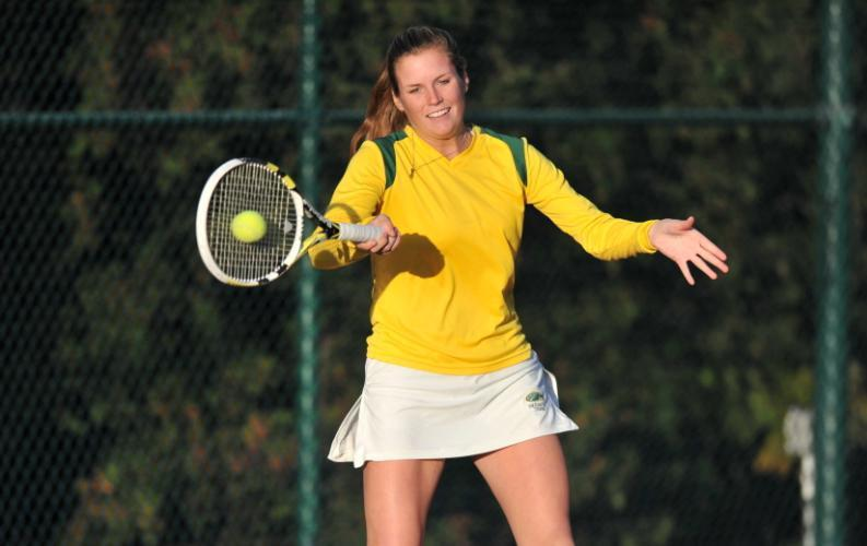 Skidmore College junior Lee Ford and her tennis partner, Nataly Mendoza, are ranked number eight in doubles.