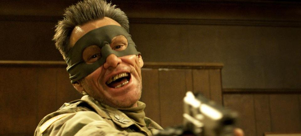 "Carrey plays Colonel Stars and Stripes in the upcoming film ""Kick-Ass 2."""