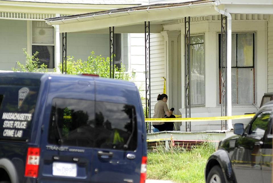 Orange and State Police officials investigated the fatal shooting on Wednesday of a suspect at a house on Mechanic Street in Orange.