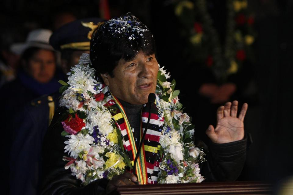 Bolivian President Evo Morales said the rerouting of his plane over Europe was a plot by the United States.