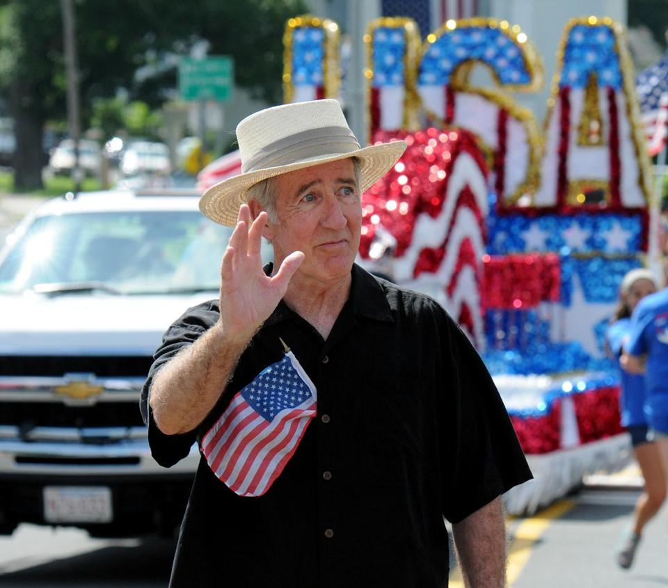 Richard E. Neal becomes 'dean' of the state's congressional delegation. He marched Thursday in East Longmeadow's parade.