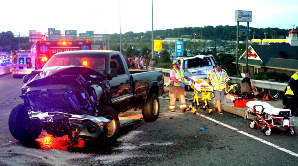Several people had injuries that were not life-threatening in the crash on Route 6 eastbound on Thursday night.