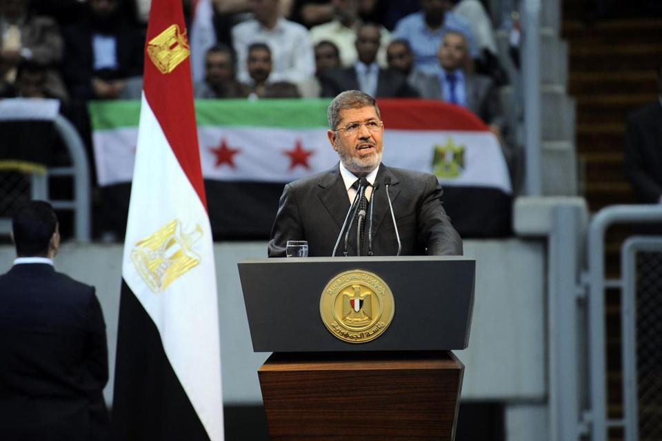 Mohammed Morsi spoke at a June rally organized by hardline Islamists loyal to him.