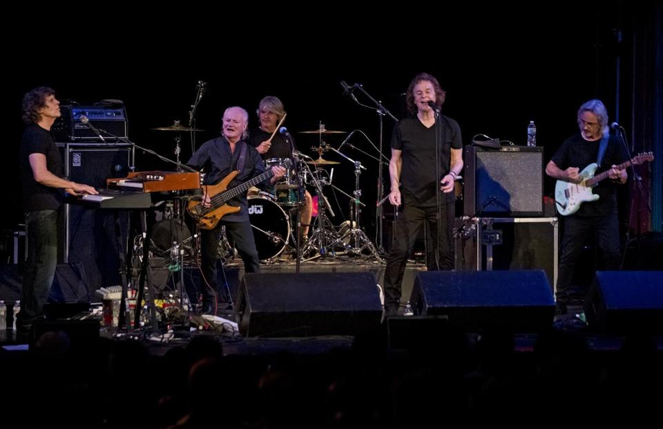 "The Zombies performing their classic songs, such as ""Time of the Season,"" and few newer numbers at the Regent Theatre on Sunday."
