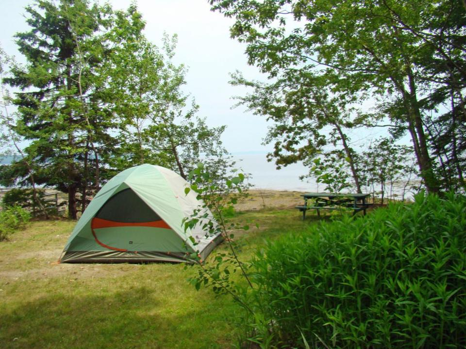 Searsport Shores Campground on Penobscot Bay, between Camden and Bar Harbor.
