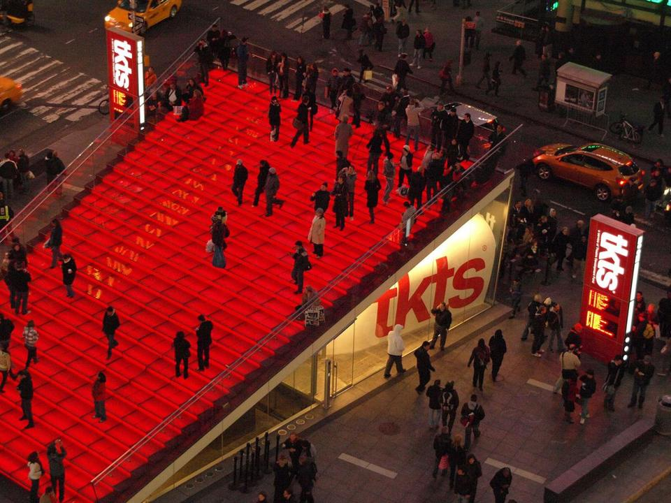 The TKTS Discount Booth in Times Square.
